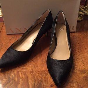 Ann Taylor Zada Kitten Heel Calf Hair Size 8.5